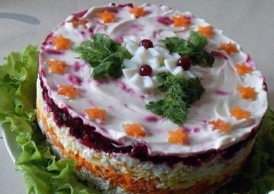 салат из свёклы Генерал